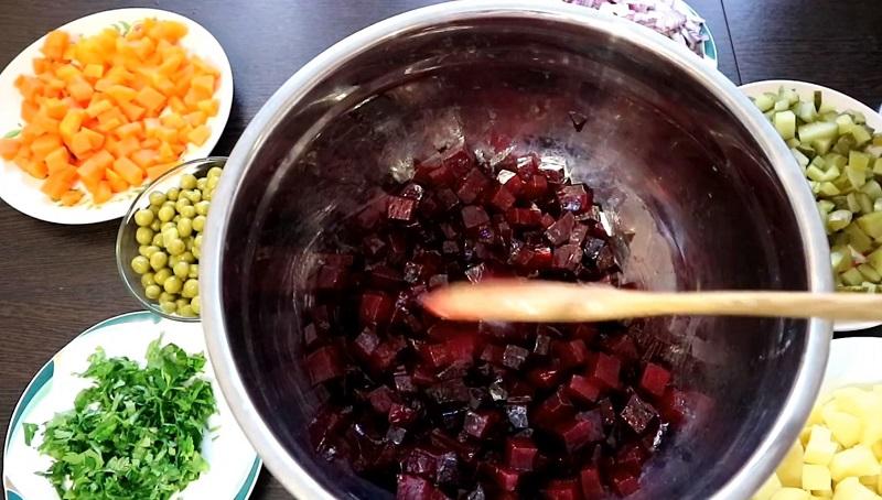 Ошибки при приготовлении винегрета кулинария, закуски, картофель, питание, салаты, свекла