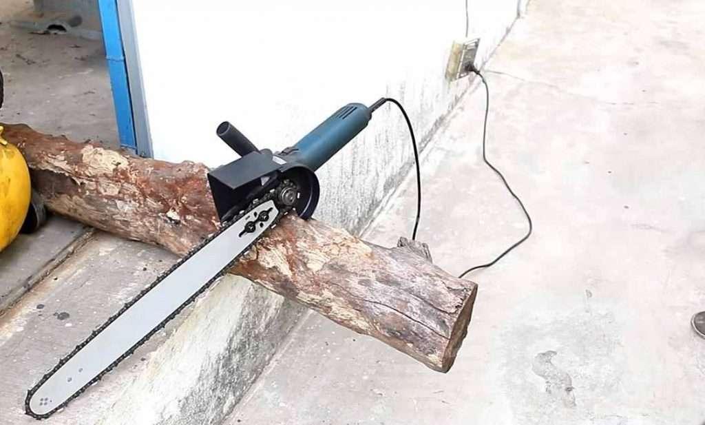 Как из маленькой болгарки сделать электропилу Самоделки