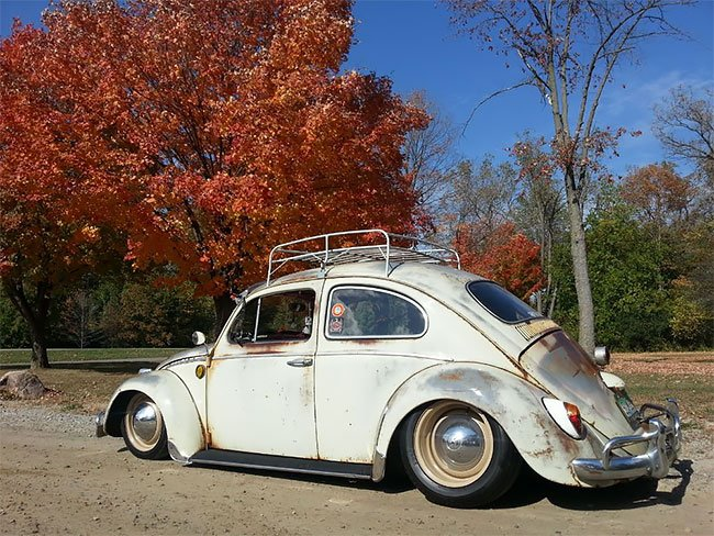 Потрясающие фотографии Volkswagen Beetle Rat Rods с патиной на улицах городов авто