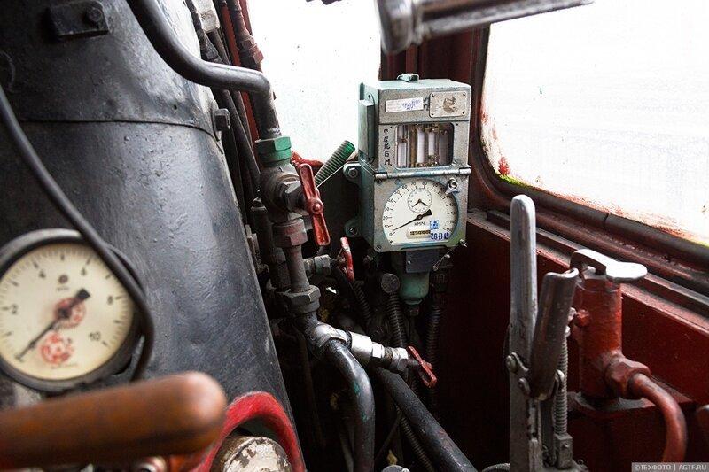 Рабочие места бригады паровоза П36-0120 Интересное